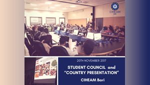 "Student Council  and ""Country Presentation"" at CIHEAM Bari"
