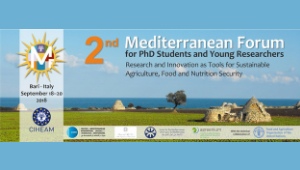 MEDFORUM for doctoral students and young researchers | CIHEAM Bari, 18-20 September 2018