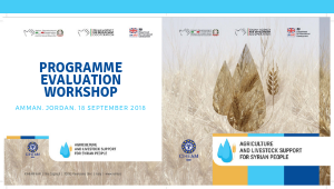 Agriculture and Livestock Support for Syrian People, Programme Evaluation Workshop | Amman, Jordan, 18 September 2018