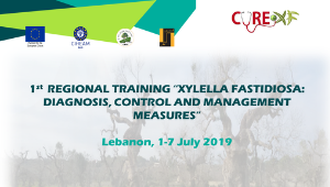 "1st CURE-XF Regional Training in ""Xylella Fastidiosa: Diagnosis, Control and Management Measures"" 